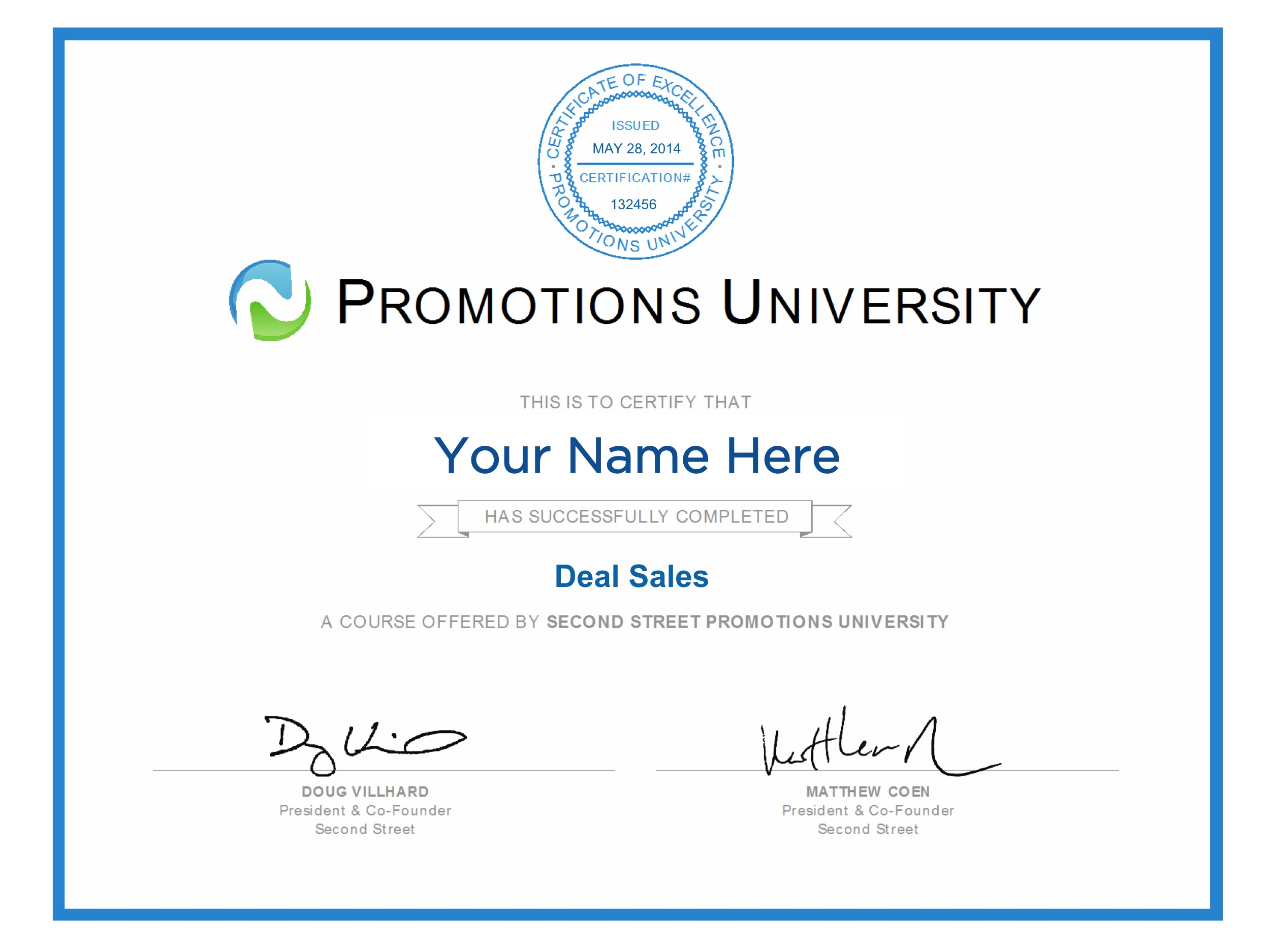 Promotions university second street become a certified promotions expert xflitez Gallery